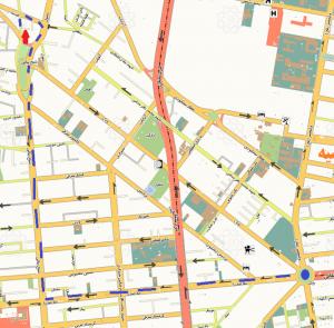 دسترسی به دفتر ابر طلایی از میدان ونک