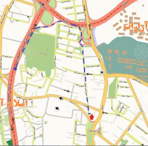 دسترسی به دفتر ابر طلایی از مسیر بزرگراه شهید چمران (جنوب به شمال) و بزرگراه نیایش (غرب به شرق)