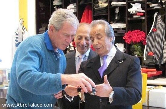 ثروتمندترین فروشنده ایرانی ، بیژن پاکزاد و جورج بوش رئیس جمهور پیشین امریکا
